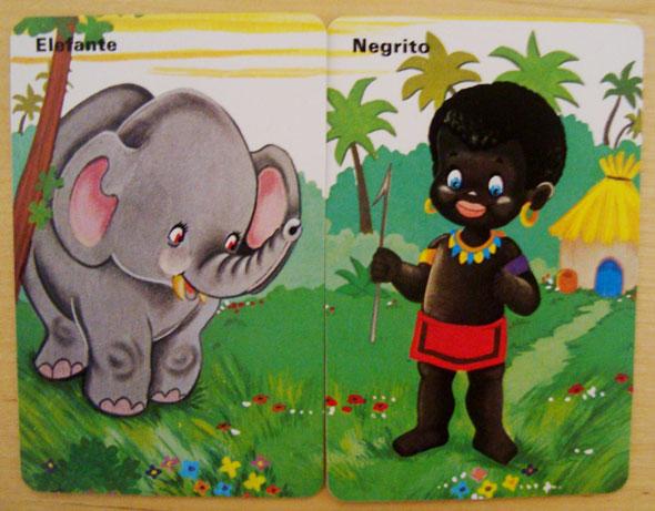 Negrito elefante cartas